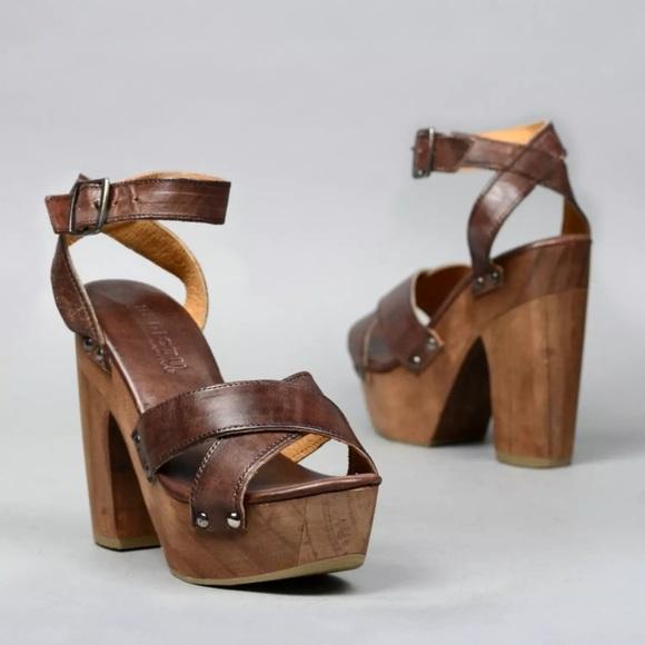 cd408277c2 Bed Stu Shoes | Madeline Leather Wood Platform Sandal | Poshmark